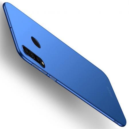 Ультратонкий Матовый Кейс Пластиковый Накладка Чехол для Samsung Galaxy A60 Синий