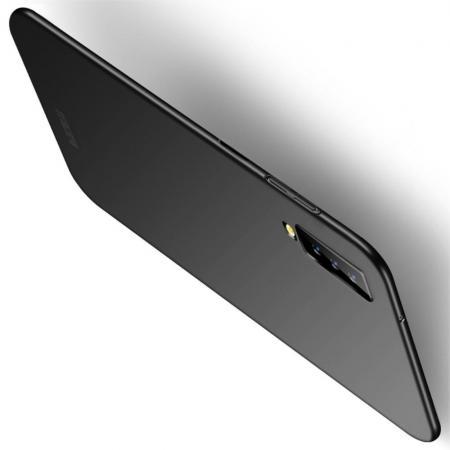Ультратонкий Матовый Кейс Пластиковый Накладка Чехол для Samsung Galaxy A7 2018 SM-A750 Черный