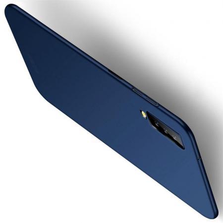 Ультратонкий Матовый Кейс Пластиковый Накладка Чехол для Samsung Galaxy A7 2018 SM-A750 Синий