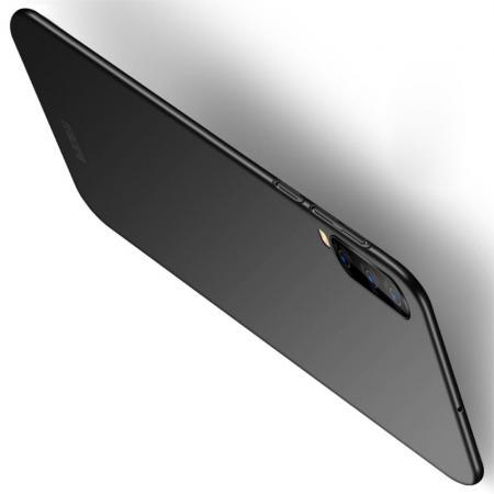 Ультратонкий Матовый Кейс Пластиковый Накладка Чехол для Samsung Galaxy A70 Черный