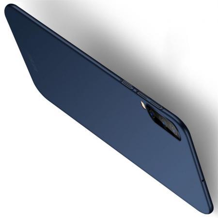 Ультратонкий Матовый Кейс Пластиковый Накладка Чехол для Samsung Galaxy A70 Синий