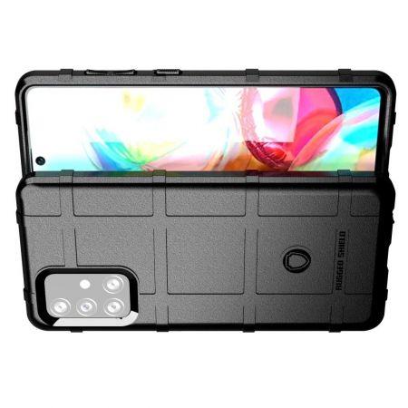 Матовый Кейс Накладка Чехол для Samsung Galaxy A72 Черный