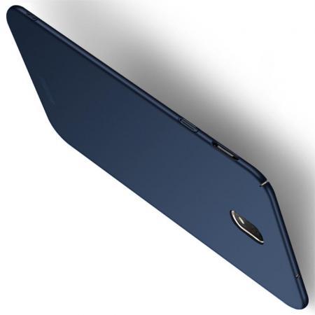Ультратонкий Матовый Кейс Пластиковый Накладка Чехол для Samsung Galaxy J7 2018 Синий