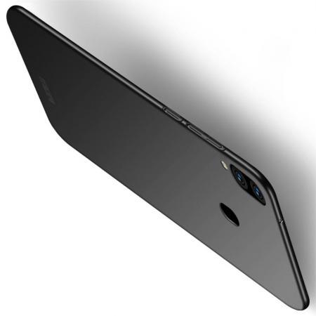 Ультратонкий Матовый Кейс Пластиковый Накладка Чехол для Samsung Galaxy M20 Черный