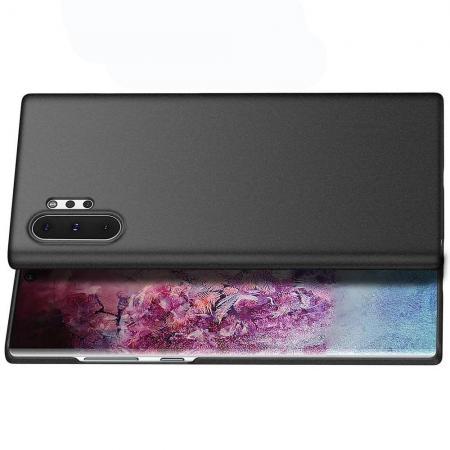 DF Ультратонкий Матовый Кейс Пластиковый Накладка Чехол для Samsung Galaxy Note 10 Plus Черный