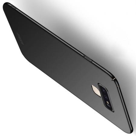 Ультратонкий Матовый Кейс Пластиковый Накладка Чехол для Samsung Galaxy Note 9 Черный