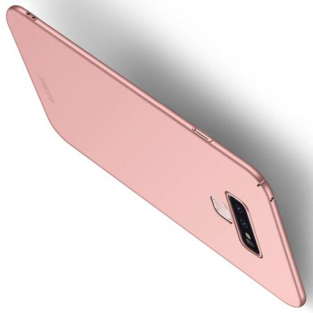 Ультратонкий Матовый Кейс Пластиковый Накладка Чехол для Samsung Galaxy Note 9 Розовое Золото