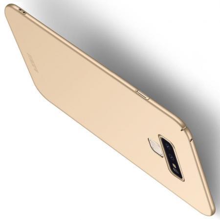 Ультратонкий Матовый Кейс Пластиковый Накладка Чехол для Samsung Galaxy Note 9 Золотой