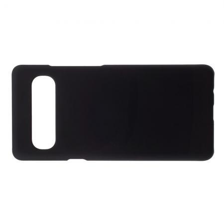 Ультратонкий Матовый Кейс Пластиковый Накладка Чехол для Samsung Galaxy S10 5G Черный