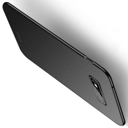 Ультратонкий Матовый Кейс Пластиковый Накладка Чехол для Samsung Galaxy S10e Черный