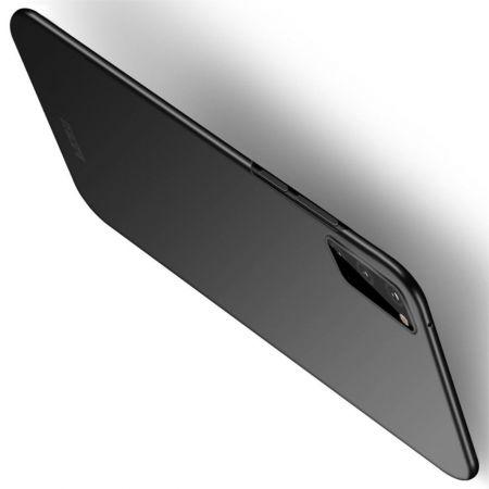 Ультратонкий Матовый Кейс Пластиковый Накладка Чехол для Samsung Galaxy S20 Черный