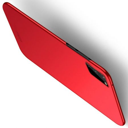 Ультратонкий Матовый Кейс Пластиковый Накладка Чехол для Samsung Galaxy S20 Красный