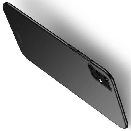 Ультратонкий Матовый Кейс Пластиковый Накладка Чехол для Samsung Galaxy S20 Plus Черный