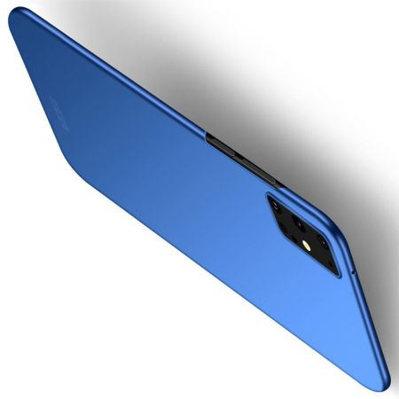 Ультратонкий Матовый Кейс Пластиковый Накладка Чехол для Samsung Galaxy S20 Plus Синий