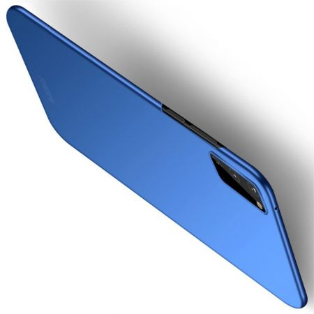Ультратонкий Матовый Кейс Пластиковый Накладка Чехол для Samsung Galaxy S20 Синий