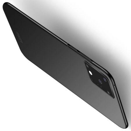 Ультратонкий Матовый Кейс Пластиковый Накладка Чехол для Samsung Galaxy S20 Ultra Черный