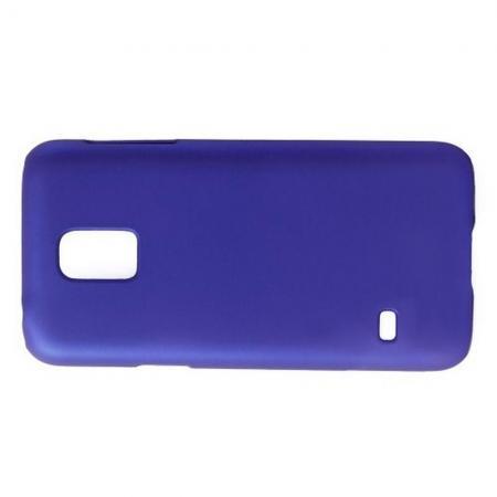 Ультратонкий Матовый Кейс Пластиковый Накладка Чехол для Samsung Galaxy S5 Mini Синий