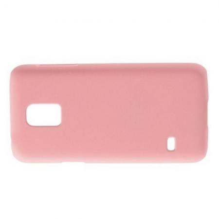 Ультратонкий Матовый Кейс Пластиковый Накладка Чехол для Samsung Galaxy S5 Mini Розовый