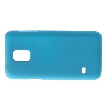 Ультратонкий Матовый Кейс Пластиковый Накладка Чехол для Samsung Galaxy S5 Mini Голубой