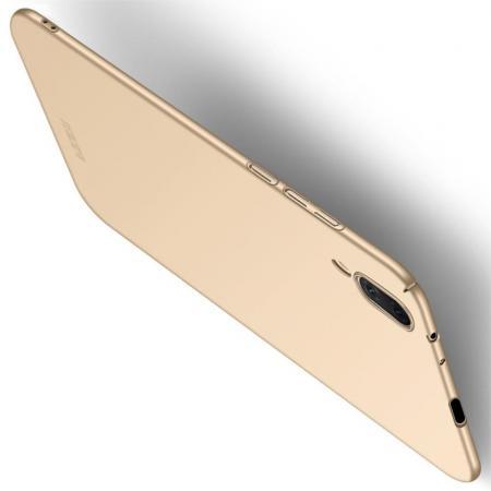 Ультратонкий Матовый Кейс Пластиковый Накладка Чехол для Vivo NEX S Золотой