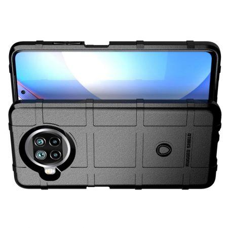 Матовый Кейс Накладка Чехол для Xiaomi Mi 10 Lite Черный