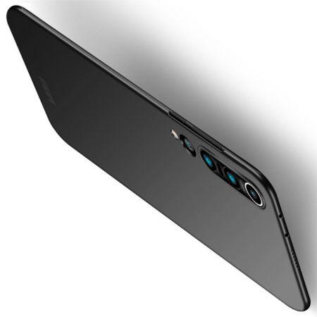 Ультратонкий Матовый Кейс Пластиковый Накладка Чехол для Xiaomi Mi 10 / Mi 10 Pro Черный