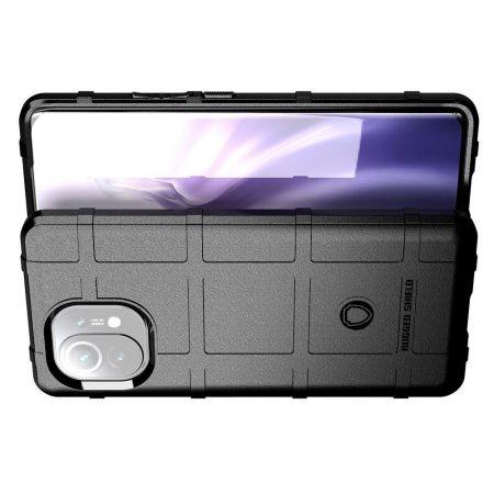Ультратонкий Матовый Кейс Пластиковый Накладка Чехол для Xiaomi Mi 11 Черный