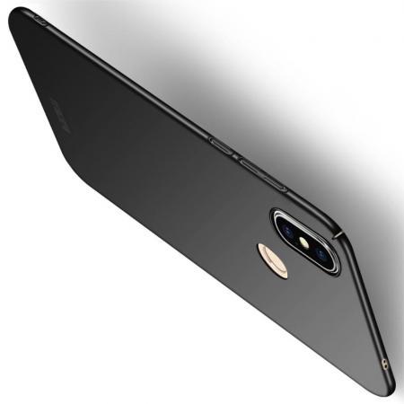 Ультратонкий Матовый Кейс Пластиковый Накладка Чехол для Xiaomi Mi 8 SE Черный