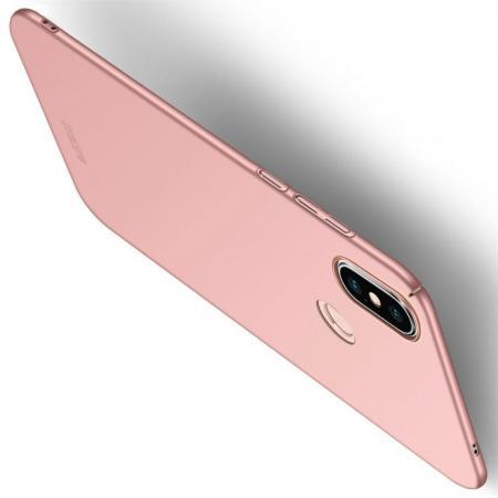 Ультратонкий Матовый Кейс Пластиковый Накладка Чехол для Xiaomi Mi 8 SE Розовое Золото