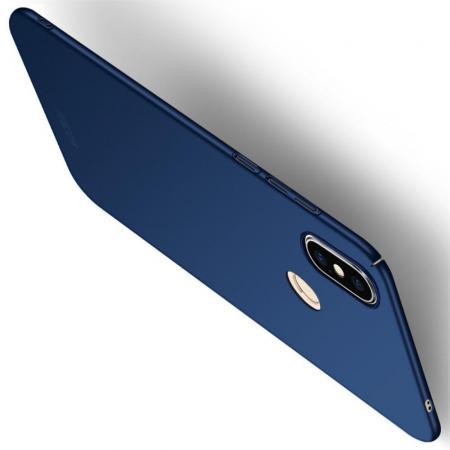 Ультратонкий Матовый Кейс Пластиковый Накладка Чехол для Xiaomi Mi 8 SE Синий