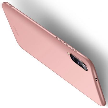 Ультратонкий Матовый Кейс Пластиковый Накладка Чехол для Xiaomi Mi 9 Розовое Золото