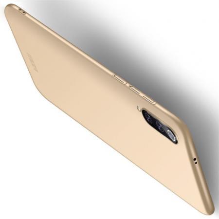 Ультратонкий Матовый Кейс Пластиковый Накладка Чехол для Xiaomi Mi 9 Золотой