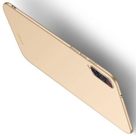 Ультратонкий Матовый Кейс Пластиковый Накладка Чехол для Xiaomi Mi 9 Pro Золотой