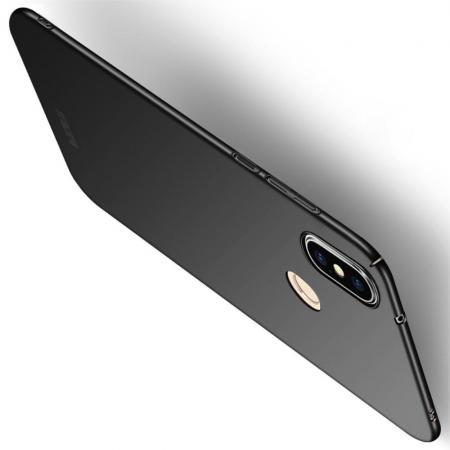 Ультратонкий Матовый Кейс Пластиковый Накладка Чехол для Xiaomi Mi A2 Lite / Redmi 6 Pro Черный