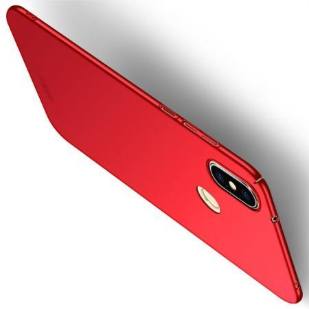 Ультратонкий Матовый Кейс Пластиковый Накладка Чехол для Xiaomi Mi A2 Lite / Redmi 6 Pro Красный