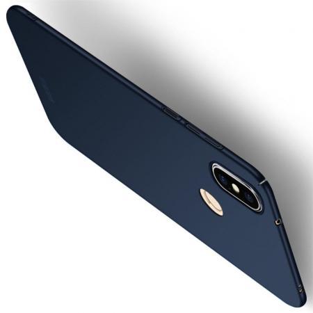 Ультратонкий Матовый Кейс Пластиковый Накладка Чехол для Xiaomi Mi A2 Lite / Redmi 6 Pro Синий