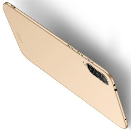 Ультратонкий Матовый Кейс Пластиковый Накладка Чехол для Xiaomi Mi A3 Золотой