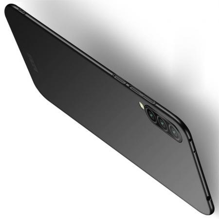 Ультратонкий Матовый Кейс Пластиковый Накладка Чехол для Xiaomi Mi 9 Lite Черный