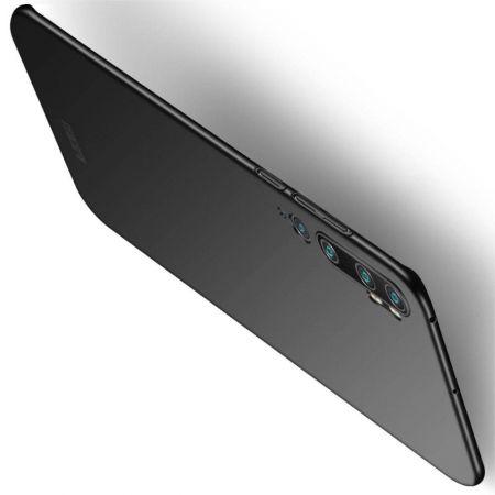 Ультратонкий Матовый Кейс Пластиковый Накладка Чехол для Xiaomi Mi Note 10 Черный