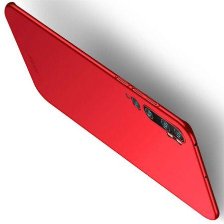 Ультратонкий Матовый Кейс Пластиковый Накладка Чехол для Xiaomi Mi Note 10 Красный