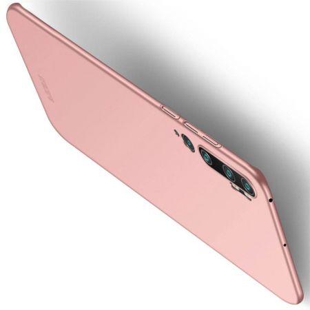 Ультратонкий Матовый Кейс Пластиковый Накладка Чехол для Xiaomi Mi Note 10 Розовый