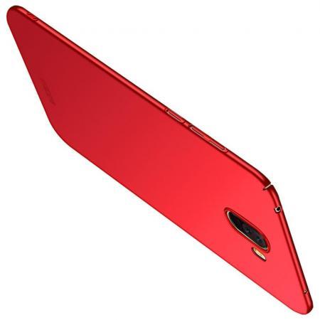Ультратонкий Матовый Кейс Пластиковый Накладка Чехол для Xiaomi Pocophone F1 Красный