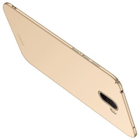 Ультратонкий Матовый Кейс Пластиковый Накладка Чехол для Xiaomi Pocophone F1 Золотой
