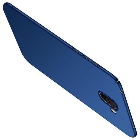 Ультратонкий Матовый Кейс Пластиковый Накладка Чехол для Xiaomi Pocophone F1 Синий
