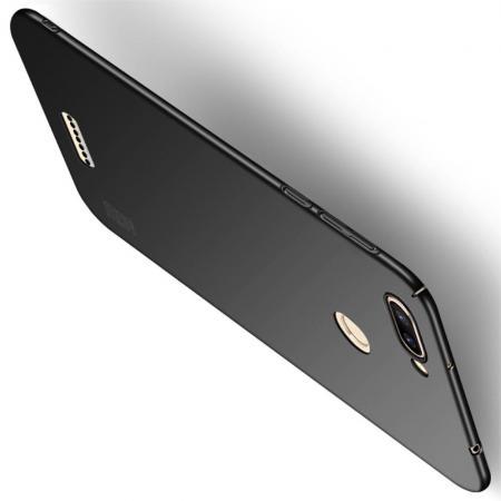 Ультратонкий Матовый Кейс Пластиковый Накладка Чехол для Xiaomi Redmi 6 Черный