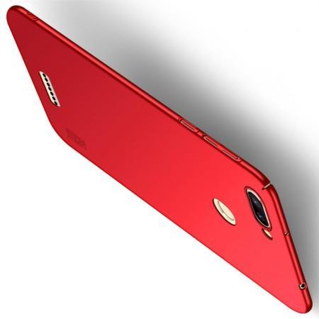 Ультратонкий Матовый Кейс Пластиковый Накладка Чехол для Xiaomi Redmi 6 Красный