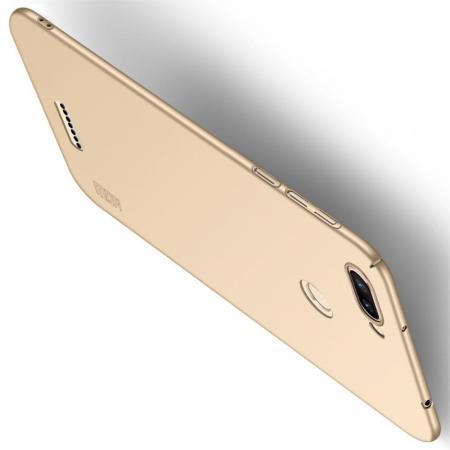 Ультратонкий Матовый Кейс Пластиковый Накладка Чехол для Xiaomi Redmi 6 Золотой