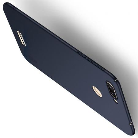 Ультратонкий Матовый Кейс Пластиковый Накладка Чехол для Xiaomi Redmi 6 Синий