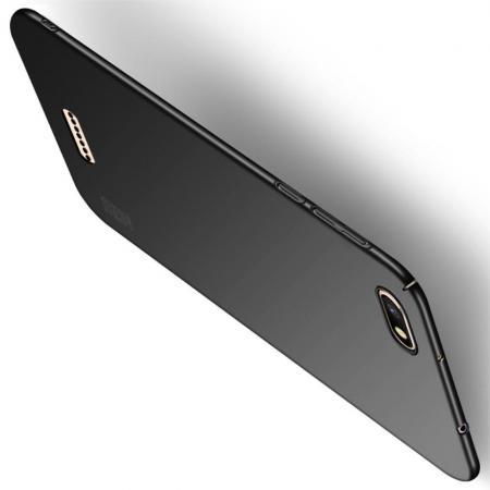 Ультратонкий Матовый Кейс Пластиковый Накладка Чехол для Xiaomi Redmi 6A Черный