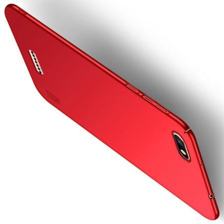Ультратонкий Матовый Кейс Пластиковый Накладка Чехол для Xiaomi Redmi 6A Красный